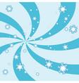 snowy swirl vector image vector image