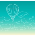Air balloon flying in the clouds vector image