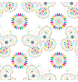 Seamless floral pattern with colorful butterflies vector image