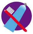 toothbrush toothpaste vector image
