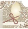 vintage scrap template vector image vector image
