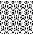 Balls for football or soccer game seamless pattern vector image vector image