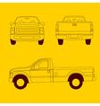 Pick-up truck line vector image