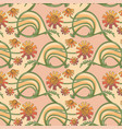 floral seamless texture in art-nouveau style vector image