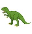 Green giant Dinosaur Tyrannosaurus Rex Prehistoric vector image