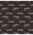 Hot Dogs Seamless Pattern vector image