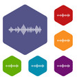 musical pulse icons set vector image
