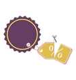 price tag or label icon image vector image