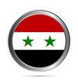 Syria flag button vector image