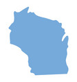 wisconsin state map vector image