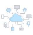 Internet cloud vector image vector image