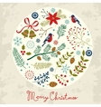 Round Christmas composition vector image