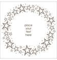 Stars border frame vector image