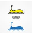 Submarine icon vector image