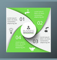 spiral square for infographic vector image