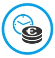 Euro Credit Rounded Icon vector image