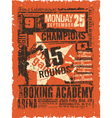Boxing match vintage poster vector image