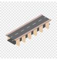 bridge road isometric icon vector image