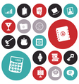 icons for business and work vector image