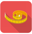 Measuring tape icon vector image