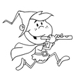 Pied piper costume cartoon vector image