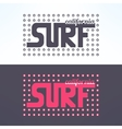 surf colorful text design background vector image