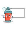 thumbs up with board aerosol spray can character vector image
