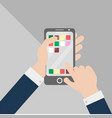 using smartphone touch vector image