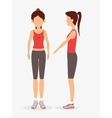 woman pose different exercise fitness vector image