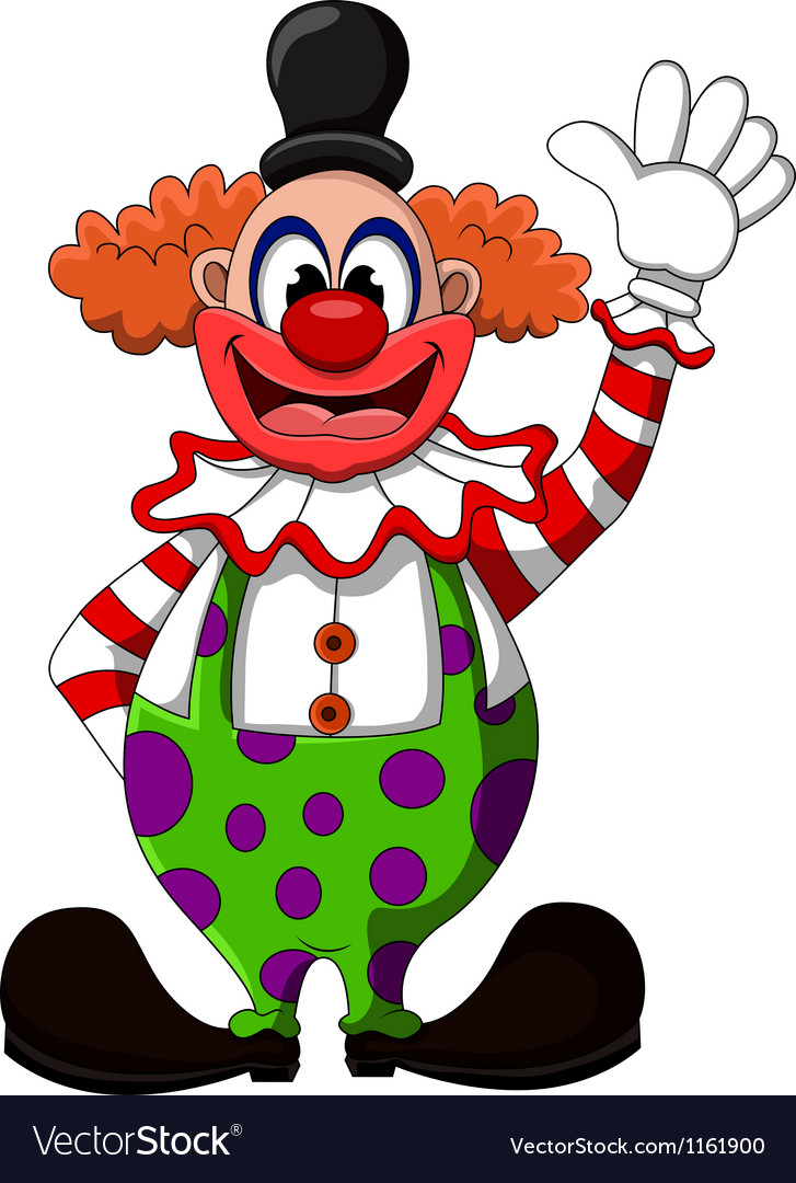 Cute clown cartoon vector