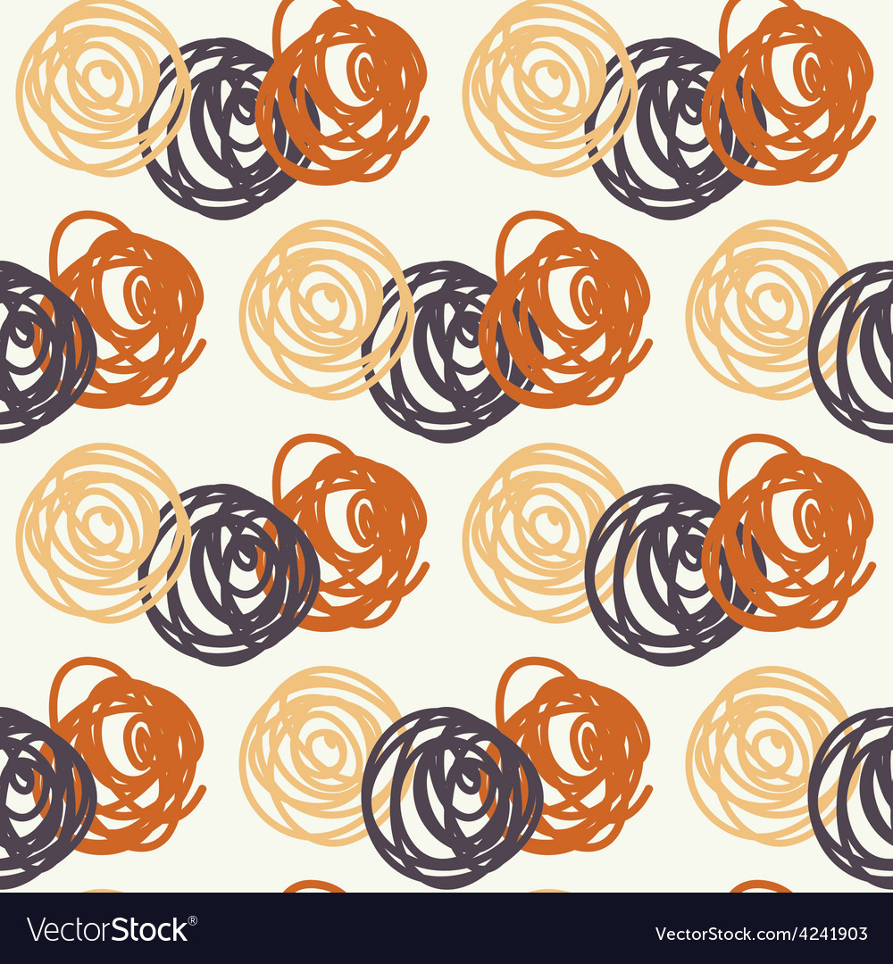 Warm cozy circles vector