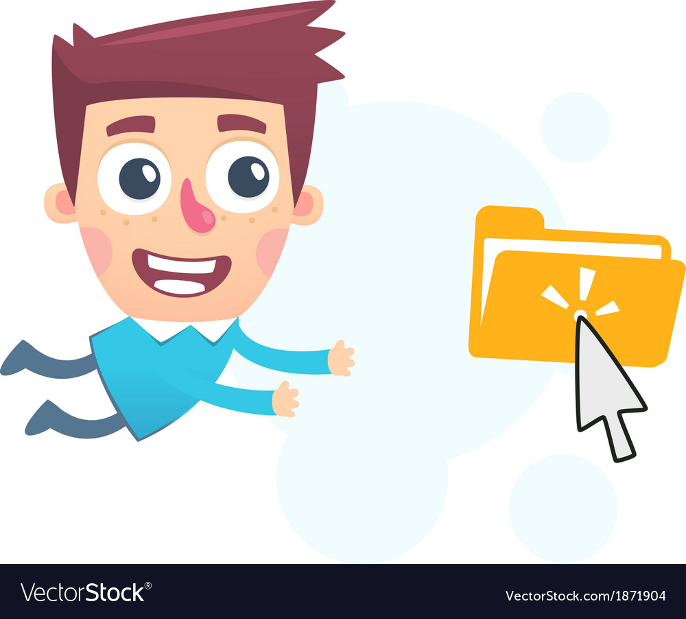 Cloud storage files vector