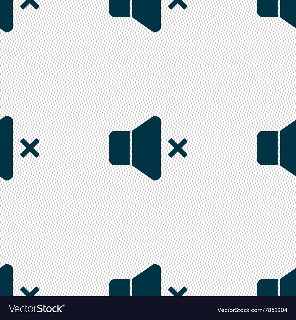 No volume icon sign seamless pattern with vector