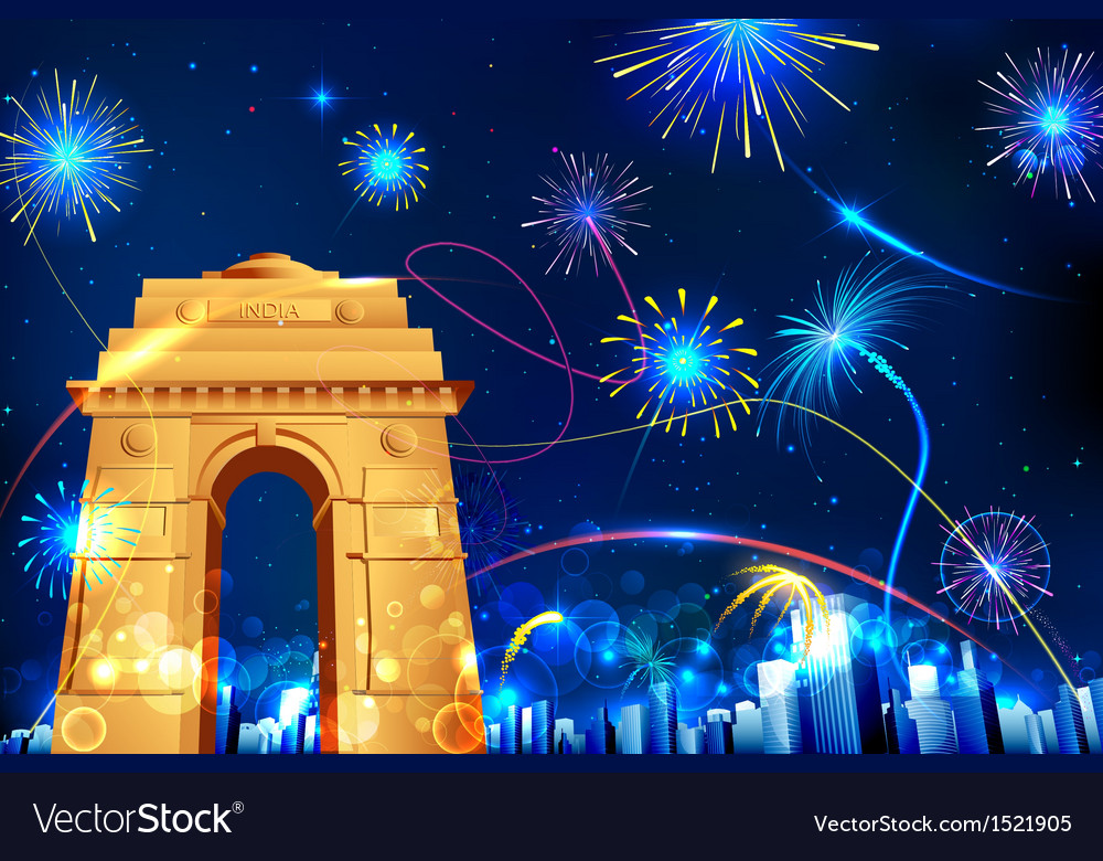 Celebration of india vector