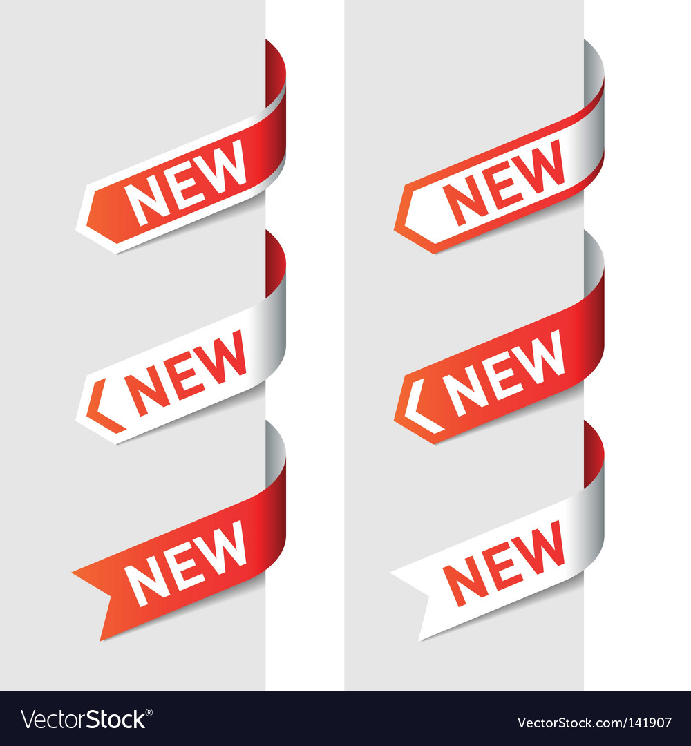 Sign new on the arrow vector
