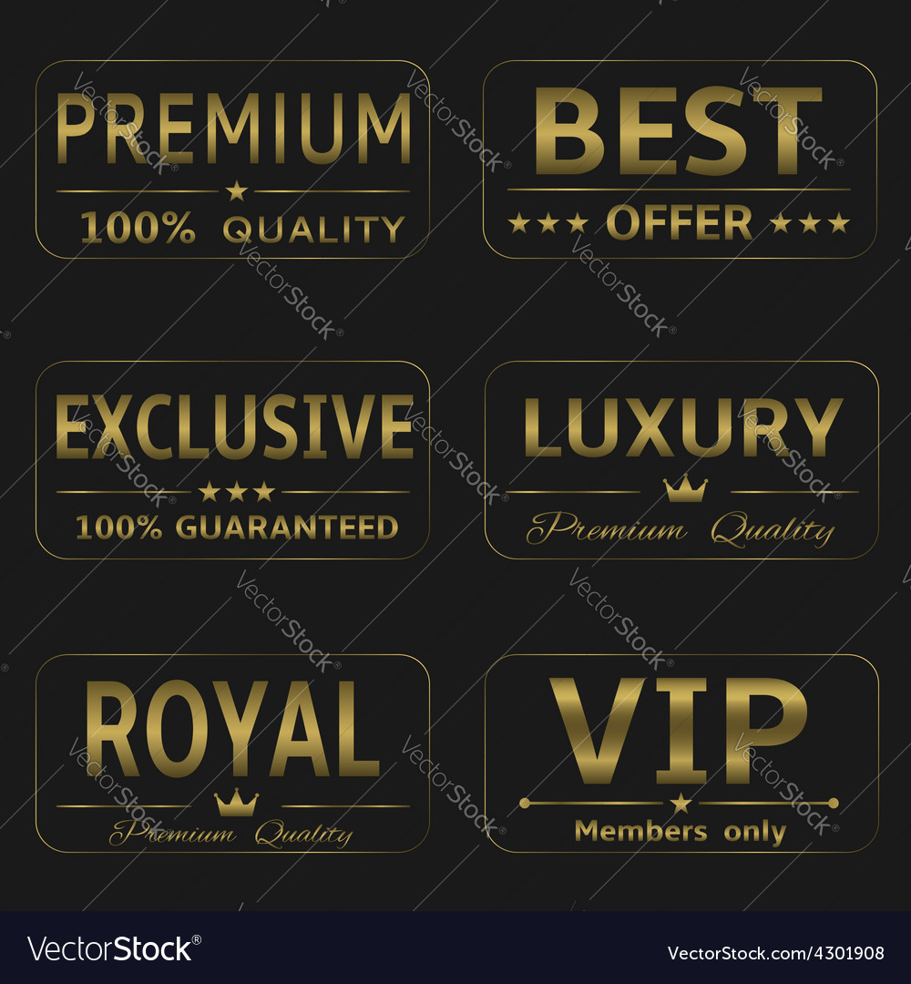 Luxury labels vector