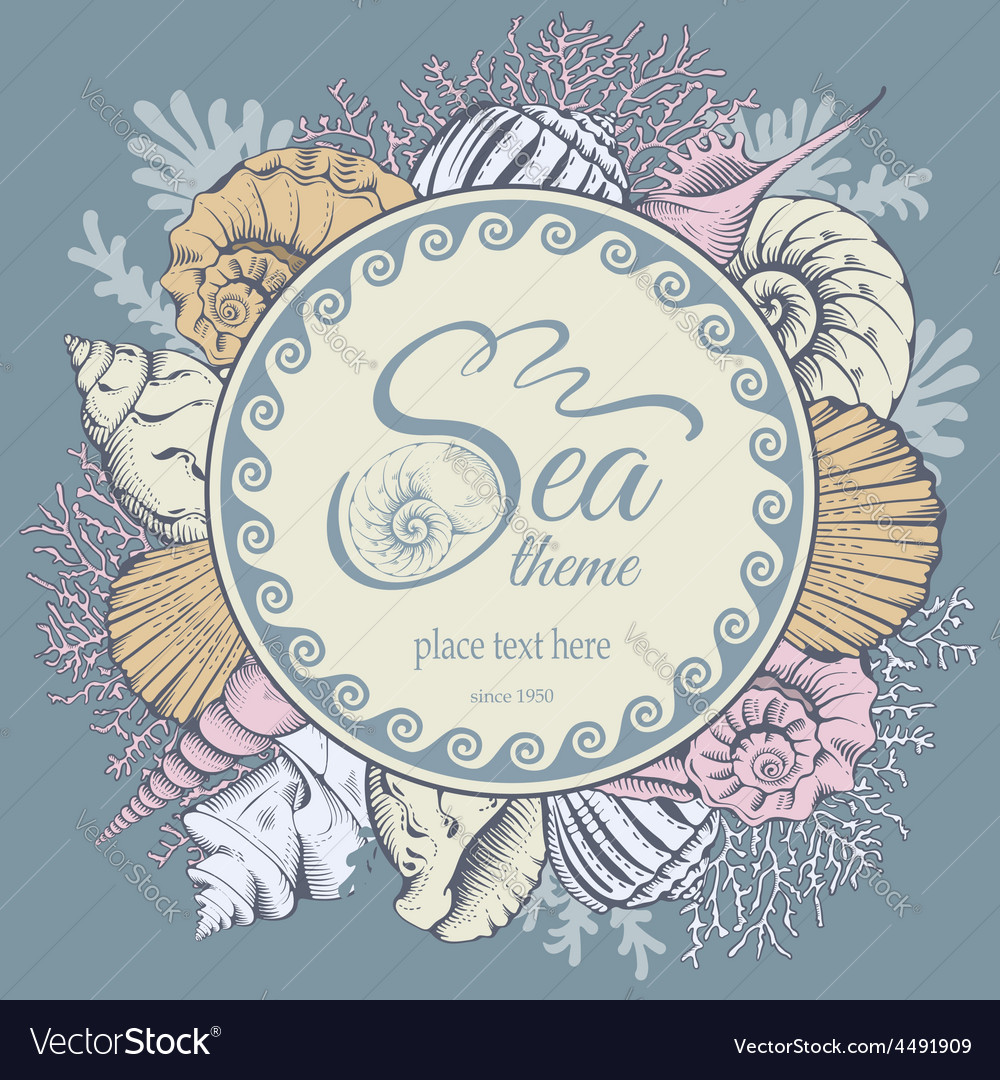 Shell background vector