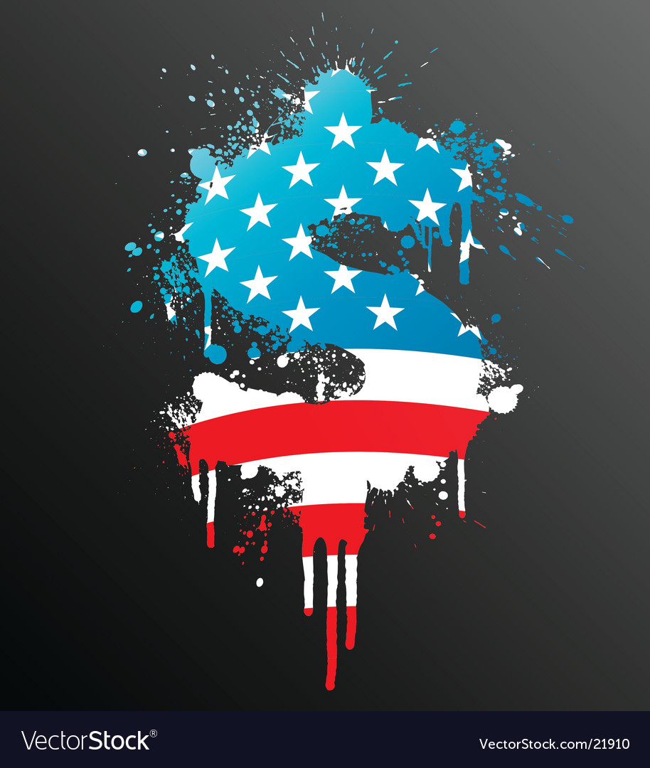 American dollar splatter element vector
