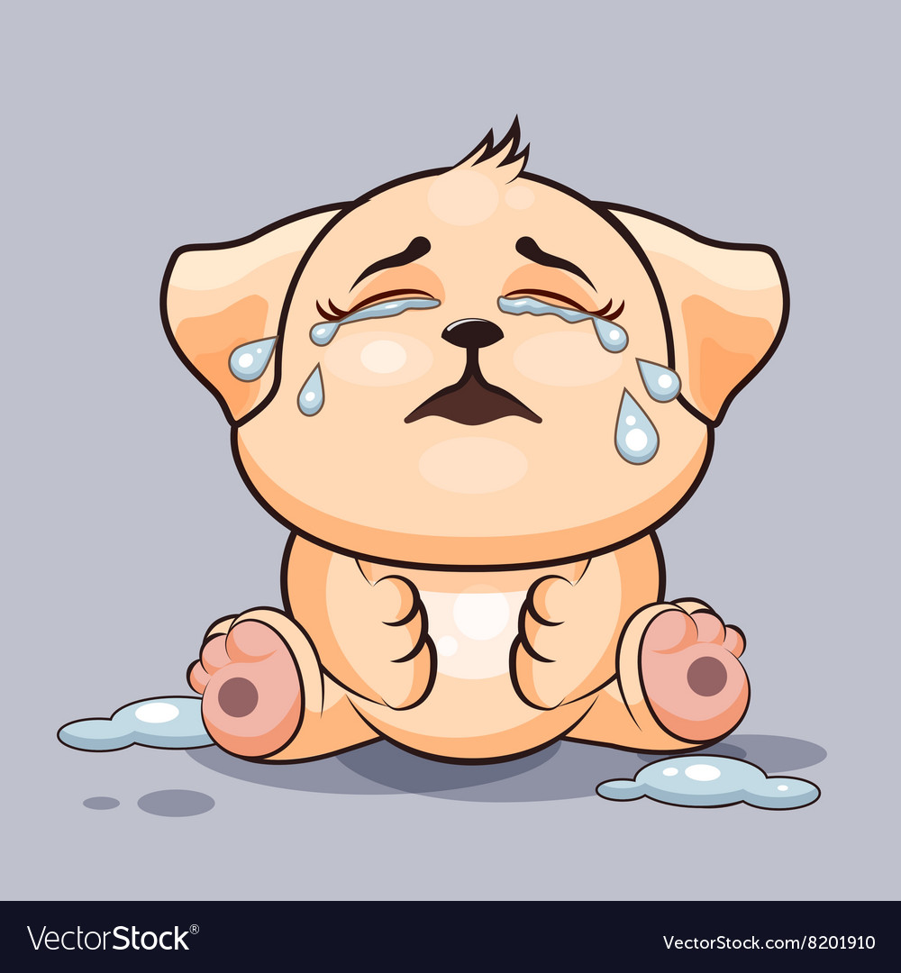 Dog is crying vector