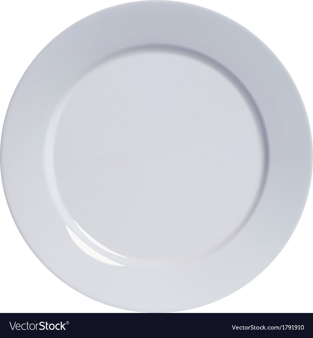 Plate empty isolated vector