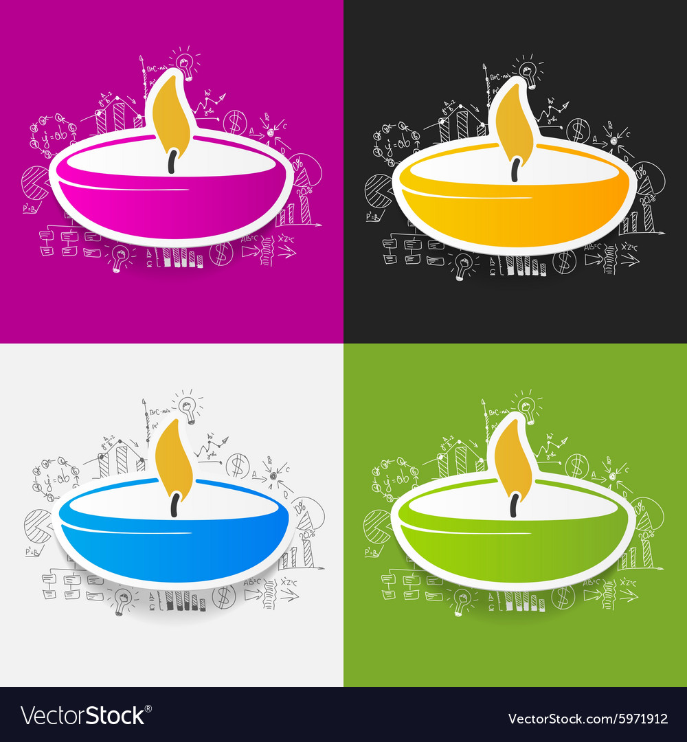 Drawing business formulas lamp vector