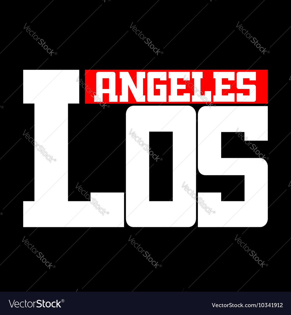 T shirt los angeles vector