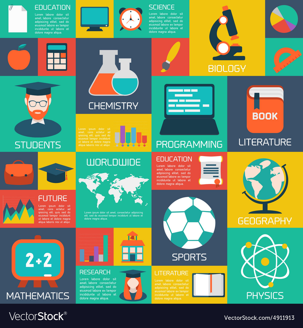 Online education background vector