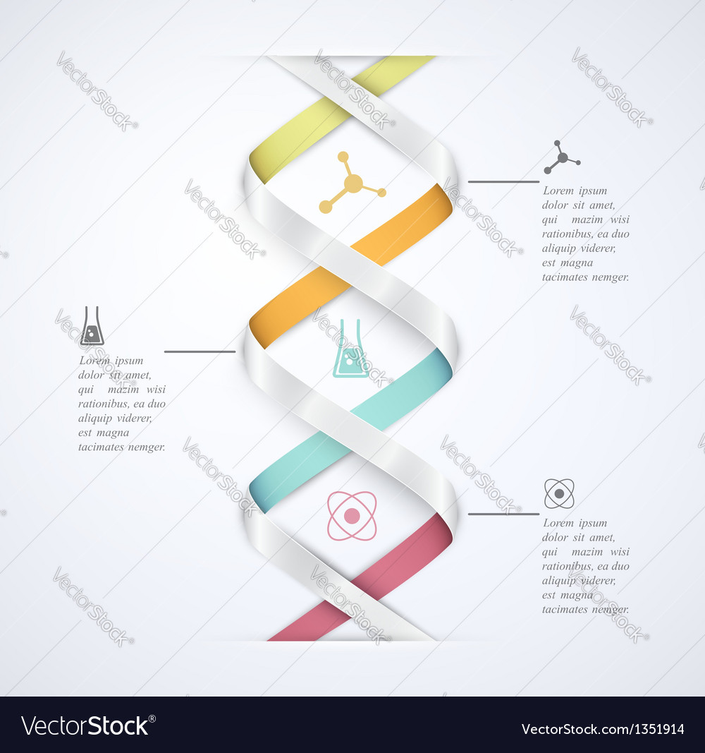 Science infographic vector