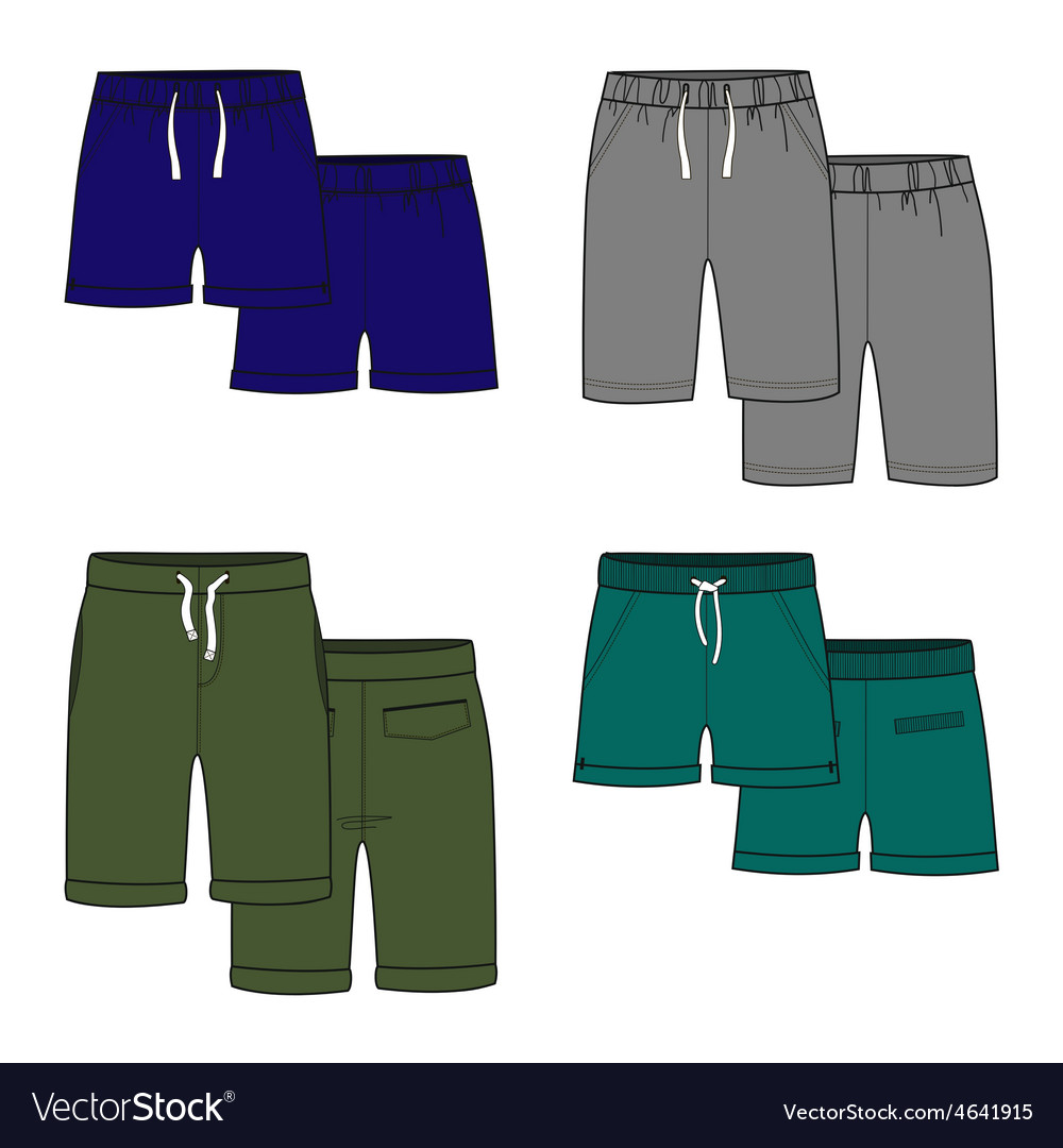 Color shorts vector