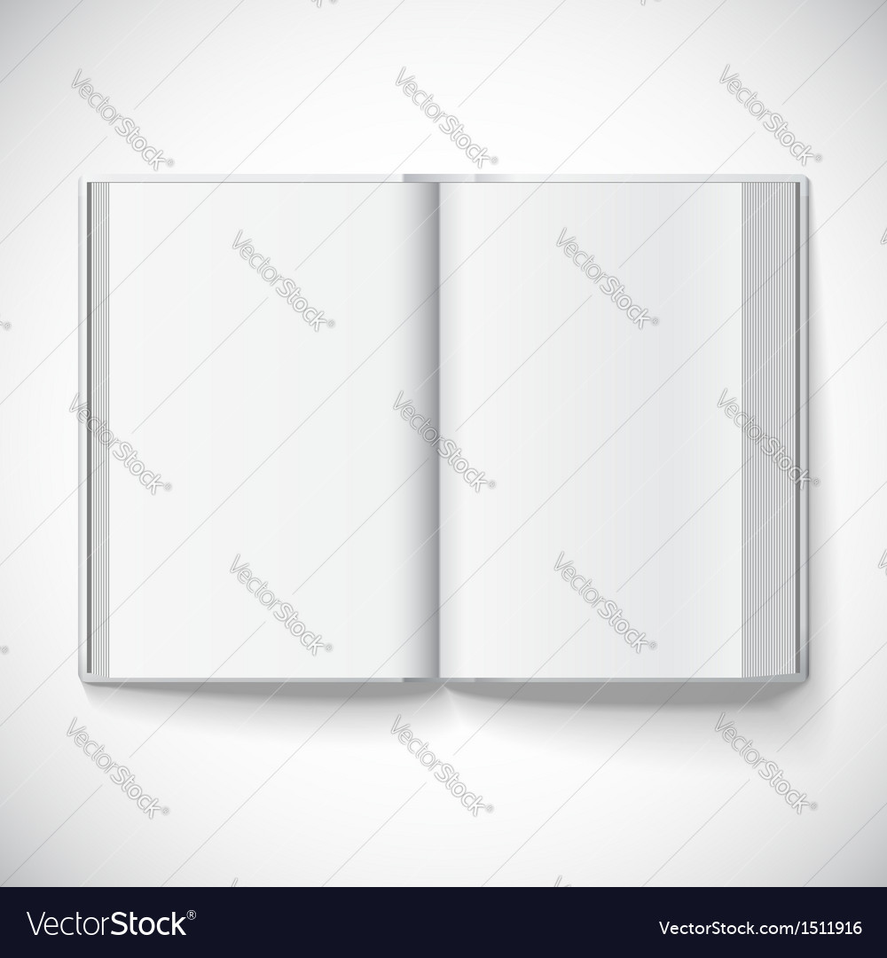Blank open book of a gradient mesh used eps10 vector