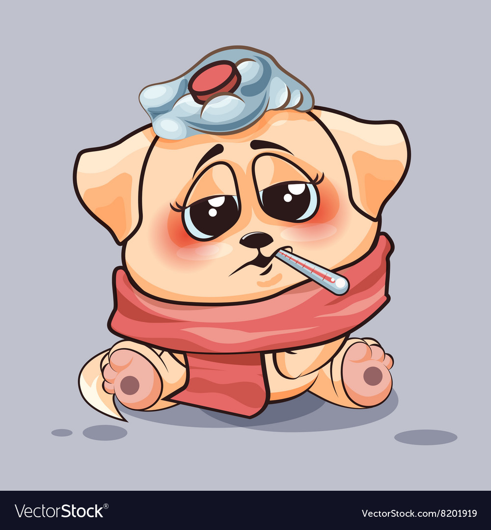 Dog is sick vector