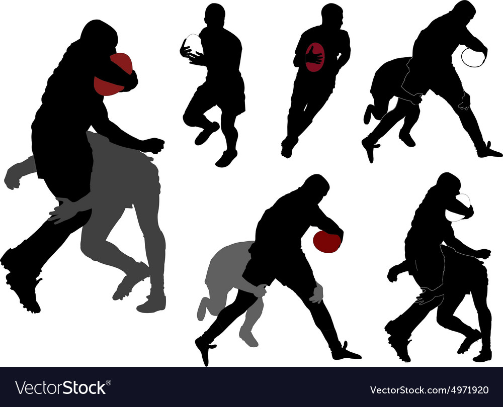 Rugby collection 4  vector