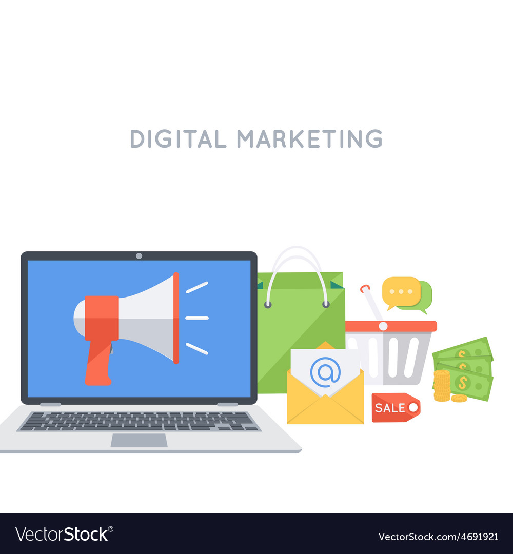 Digital marketing background vector