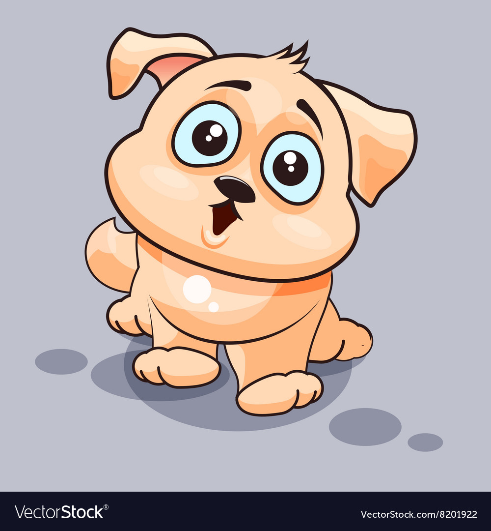 Dog is surprised vector